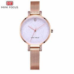 Đồng hồ thời trang nữ MINI FOCUS dây màu vàng mặt trắng - MF0160L.02