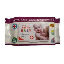 Bộ 10 gói khăn ướt Việt Mỹ hương Aloe Vera