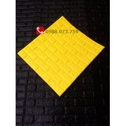 Xốp dán tường giả gạch màu vàng loại 1 trang trí nhà cửa 55k