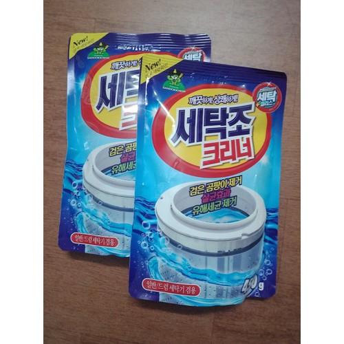Combo  2 gói Bột tẩy vệ sinh lồng máy giặt 450gr
