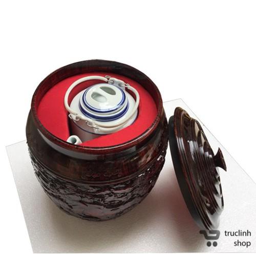Bộ giành và ấm tích ủ trà xanh Thái Huy