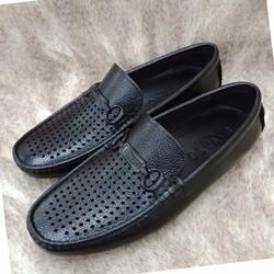 Giày lười nam da thật đục lỗ thoáng đi mùa hè AD23D
