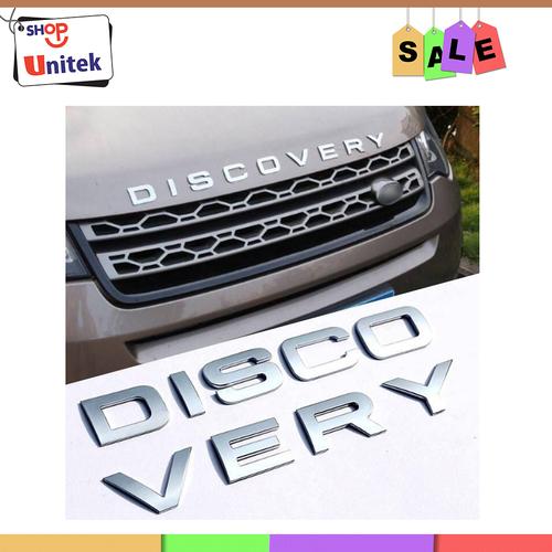 Chữ DISCOVERY nổi chrome dán ô tô - Logo DISCOVERY