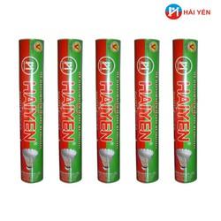 Combo 05 ống quả cầu lông HẢI YẾN loại 12 quả - ống