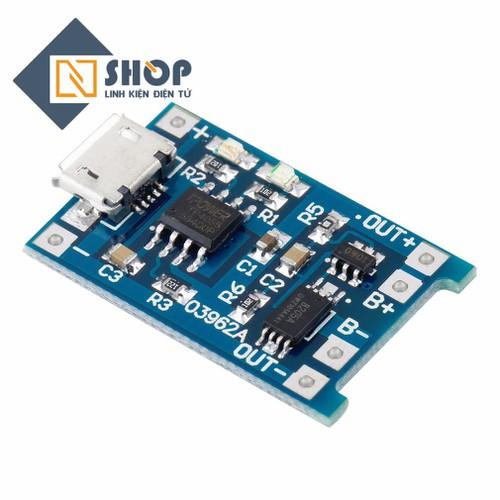 Mạch sạc pin TP4056 có IC bảo vệ - 5631330 , 9513248 , 15_9513248 , 11000 , Mach-sac-pin-TP4056-co-IC-bao-ve-15_9513248 , sendo.vn , Mạch sạc pin TP4056 có IC bảo vệ