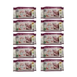 Bộ 10 gói khăn ướt Việt Mỹ hương Aloe Vera nhẹ tự nhiên