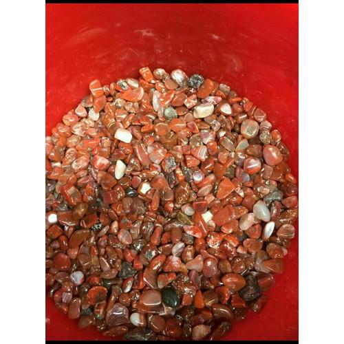 1kg đá thạch anh vụn màu nâu đỏ