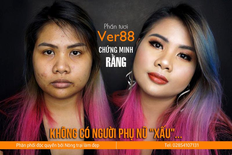 Phấn tươi Ver 88 chính hãng - Tặng Son + Kẻ mắt hàng hiệu 2