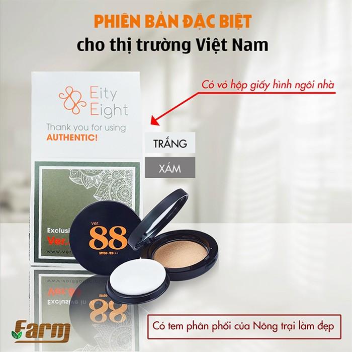 Phấn tươi Ver 88 chính hãng - Tặng Son + Kẻ mắt hàng hiệu 9