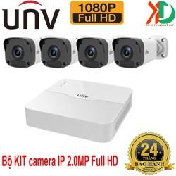 Bộ 4 camera IP và 1 đầu ghi PoE 4 kênh UNV 2.0Mp Full HD 1080P