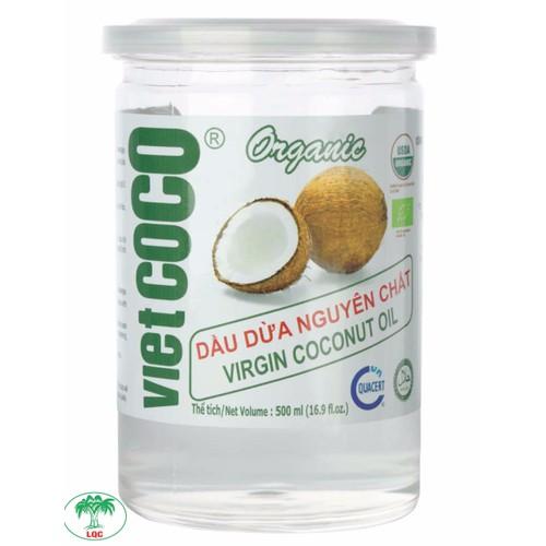 Dầu dừa nguyên chất Vietcoco nắp giật 500ml - Organic
