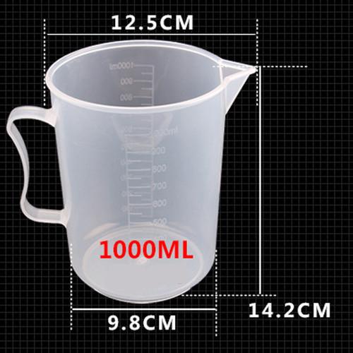 Bộ 4 Ca Đong Nhựa Có Vạch Chia Định Lượng 1 Lít