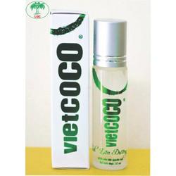 Dầu dừa nguyên chất Vietcoco bi lăn - dưỡng da 10ml