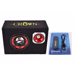 Loa Crown công suất lớn 6 inch vuông tặng kèm usb tạo bluetooth