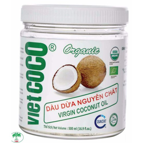 Dầu dừa nguyên chất Vietcoco hũ nhựa 500ml - Organic