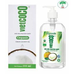 Dầu dừa nguyên chất Vietcoco chai vòi 500ml - Organic