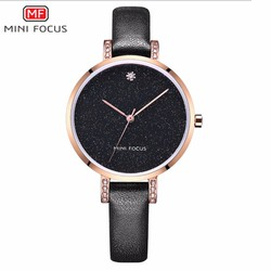 Đồng hồ thời trang nữ MINI FOCUS MF0159L dây da Màu đen - MF0159L.02