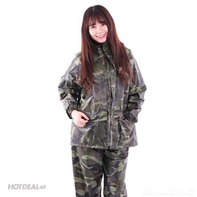 Bộ Áo Mưa Lính Vải Dù Cao Cấp Chống Thấm size 2XL 5