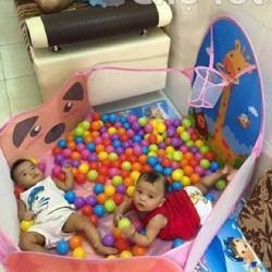 lều bóng cho bé+100 bóng nhựa-lều bóng-lều banh-nhà banh
