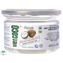 Dầu dừa nguyên chất Vietcoco nắp giật 200ml - Organic