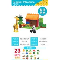 Bộ xếp hình tương thích Lego Duplo - Auldey 381005 - 23 chi tiết