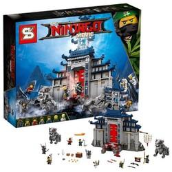 Lắp ráp mô hình cuộc chiến bảo vệ tường thành vĩ đại Ninjago Movie