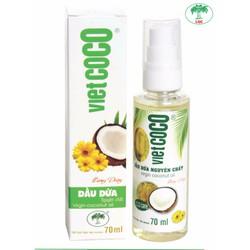 Dầu dừa nguyên chất Vietcoco vòi xịt 70ml - hương Daisy