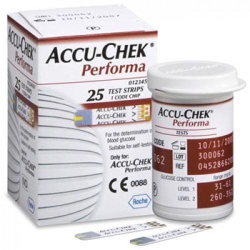 Hộp 25 que thử đường huyết Accu Check Performa
