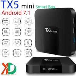 Smart Box TX5 mini android 7.1 biến tv thường thành tivi thông minh