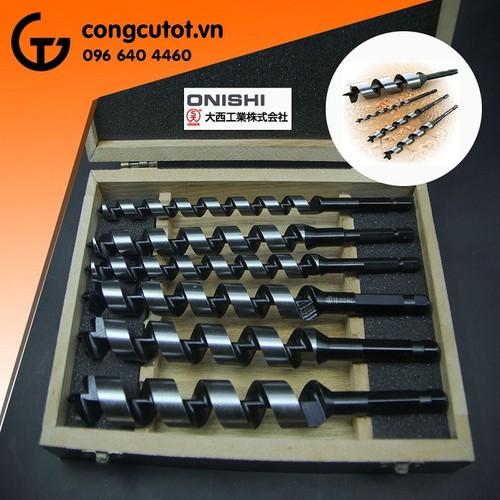 Hộp 6 mũi khoan gỗ xoắn ốc Onishi CL
