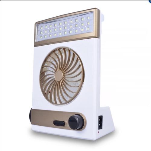 Quạt sạc năng lượng mặt trời tích hợp đèn Led Solar Light Fan