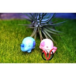 Phụ kiện tiểu cảnh, Bộ 4 Chú voi con đáng yêu, phụ kiện terrarium