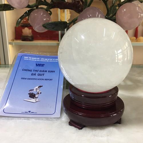 Quả cầu Canxit trắng - LPQC1019