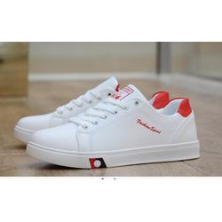 Giày thể thao nam trắng da cao cấp sieu mềm siêu nhẹ 2 màu đen ,trắng