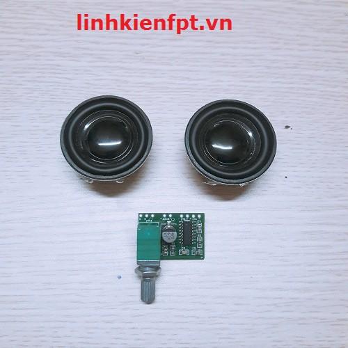 Linh kiện điện tử Combo  khuếch đại âm thanh PAM 8403 + 2 Loa 3w