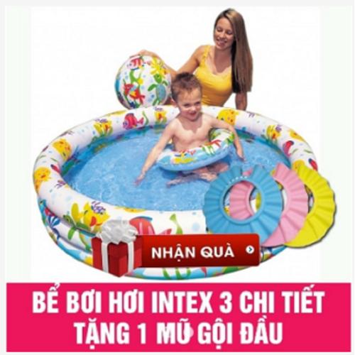 Bể Bơi 3 Chi Tiết Tặng mũ tắm cho bé