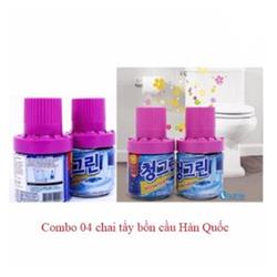 COMBO 04 CHAI TẨY BỒN CẦU KHỬ MÙI HÀN QUỐC