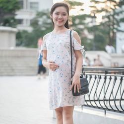 Đầm bầu rớt vai xinh