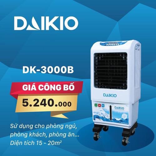 QUẠT ĐIỀU HÒA, Máy làm mát không khí Daikio DK-3000B - 5644081 , 9536002 , 15_9536002 , 5240000 , QUAT-DIEU-HOA-May-lam-mat-khong-khi-Daikio-DK-3000B-15_9536002 , sendo.vn , QUẠT ĐIỀU HÒA, Máy làm mát không khí Daikio DK-3000B