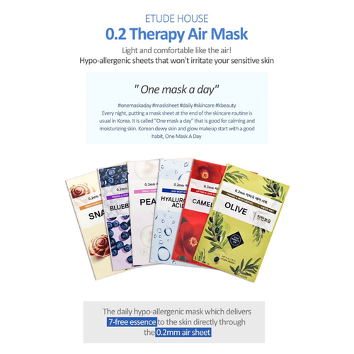 Set 5 Mặt Nạ Etude House 0.2 Therapy Air Mask - Olive Pearl Blueberry Hyaluronic - 5643535 , 9534786 , 15_9534786 , 90000 , Set-5-Mat-Na-Etude-House-0.2-Therapy-Air-Mask-Olive-Pearl-Blueberry-Hyaluronic-15_9534786 , sendo.vn , Set 5 Mặt Nạ Etude House 0.2 Therapy Air Mask - Olive Pearl Blueberry Hyaluronic