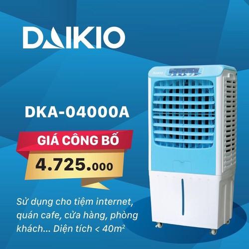 QUẠT ĐIỀU HÒA, Máy làm mát không khí Daikio DKA - 04000A chính hãng