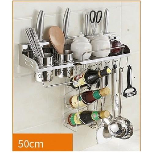 Gía kệ treo đồ nha bếp đa năng tiện dụng inox 304 - Onlycook - 50cm