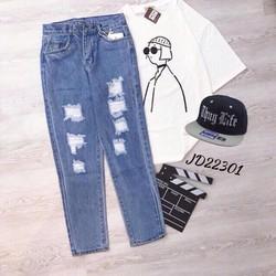 quần baggy rách jean