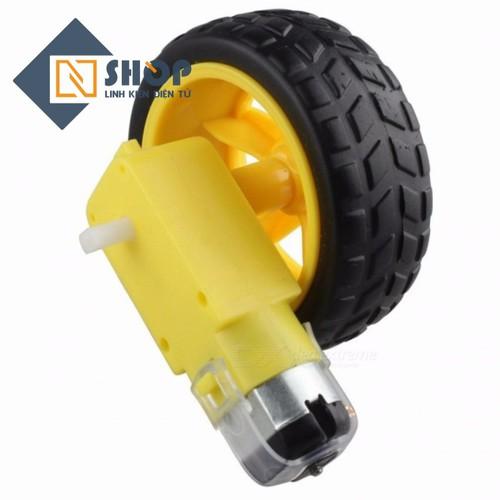 Động cơ giảm tốc vàng kèm bánh xe - 10610169 , 9534795 , 15_9534795 , 20000 , Dong-co-giam-toc-vang-kem-banh-xe-15_9534795 , sendo.vn , Động cơ giảm tốc vàng kèm bánh xe