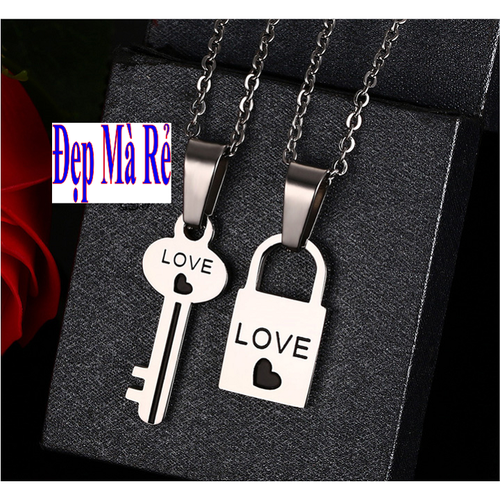 Dây chuyền cặp đôi inox Đẹp Mà Rẻ hình ổ khóa và chìa khóa - 5641550 , 9530863 , 15_9530863 , 69000 , Day-chuyen-cap-doi-inox-Dep-Ma-Re-hinh-o-khoa-va-chia-khoa-15_9530863 , sendo.vn , Dây chuyền cặp đôi inox Đẹp Mà Rẻ hình ổ khóa và chìa khóa