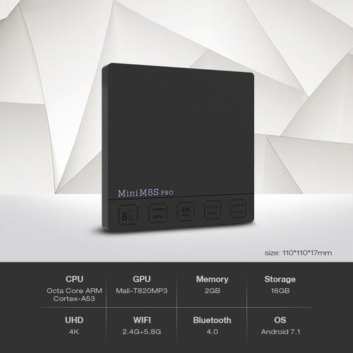 [Chính hãng] Android tv box Beelink mini M8s Pro-c | Chip S912 8 nhân - 5013737 , 9534222 , 15_9534222 , 1190000 , Chinh-hang-Android-tv-box-Beelink-mini-M8s-Pro-c-Chip-S912-8-nhan-15_9534222 , sendo.vn , [Chính hãng] Android tv box Beelink mini M8s Pro-c | Chip S912 8 nhân