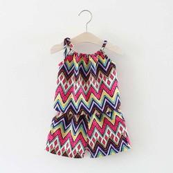 set 2 đồ bộ bé gái cực đẹp - đồ bộ mặc nhà mùa hè 2 dây xinh xắn