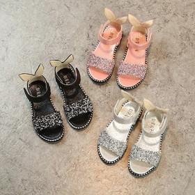 Sandal kim tuyến sau gót hình tai thỏ cho bé - B073