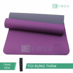 Thảm Tâp Yoga TPE Zera Mat 2 lớp 6mm màu tím + Kèm túi