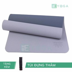Thảm Tập yoga TPE Zera Mat 2 lớp 6mm màu xám + Kèm túi